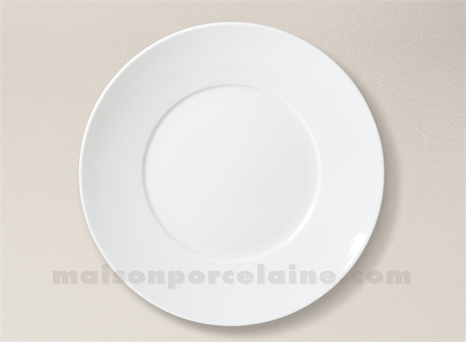 assiette plate limoges porcelaine blanche envie d28 maison de la porcelaine. Black Bedroom Furniture Sets. Home Design Ideas