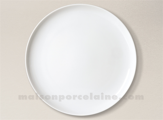 assiette plate porcelaine blanche coupe flandre d26 maison de la porcelaine. Black Bedroom Furniture Sets. Home Design Ideas