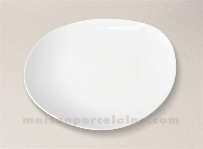 assiette plate porcelaine blanche island d27 5 maison de la porcelaine. Black Bedroom Furniture Sets. Home Design Ideas