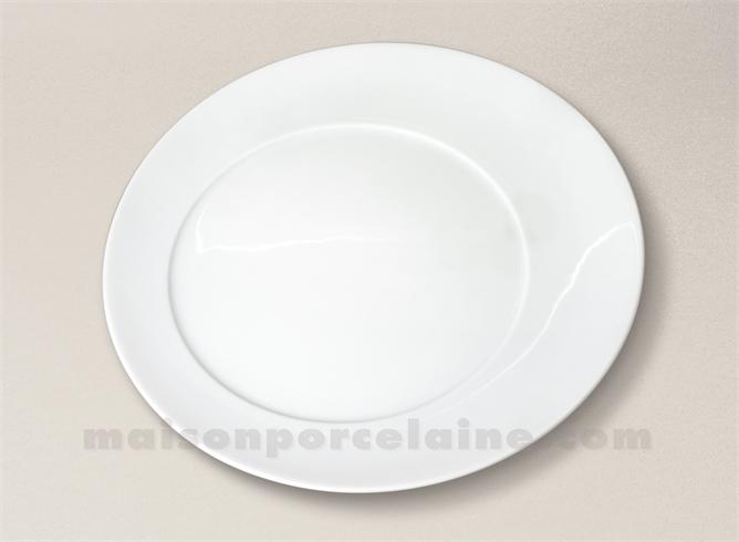 assiette plate porcelaine blanche kosmos d28 maison de la porcelaine. Black Bedroom Furniture Sets. Home Design Ideas