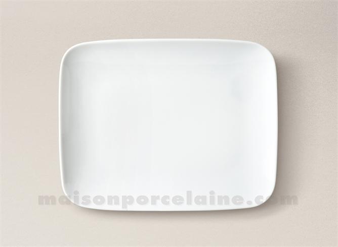assiette rectangulaire dessert porcelaine blanche mikado 22x17 maison de la porcelaine. Black Bedroom Furniture Sets. Home Design Ideas