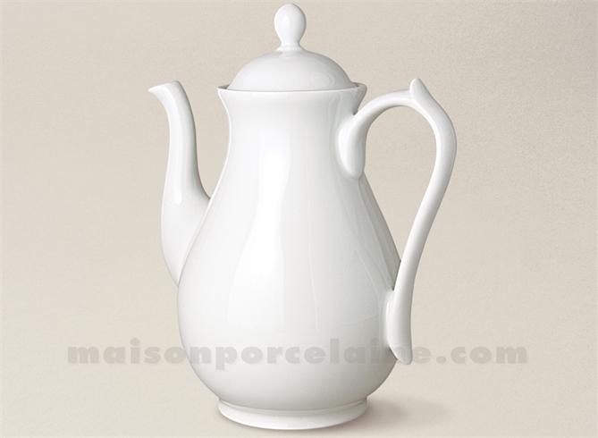 cafetiere porcelaine blanche limoges sevres mm 23x20 1 3l maison de la porcelaine. Black Bedroom Furniture Sets. Home Design Ideas