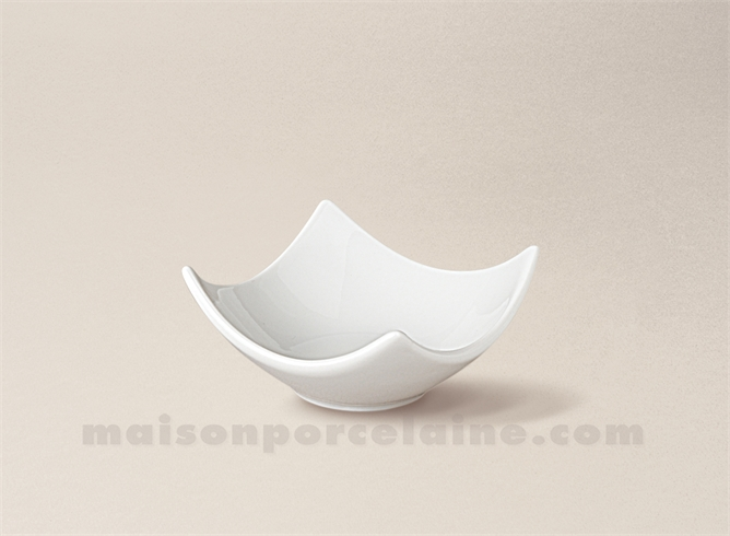 COUPELLE TAPAS PORCELAINE BLANCHE CARREE CREUSE DESIGN N°4 7X7