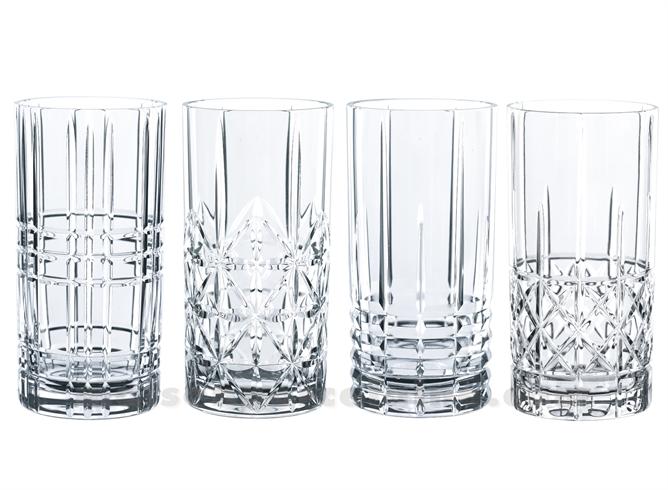 GOBELET HAUT / SODA / LONG DRINK HIGHLAND H15.5CM SET/4