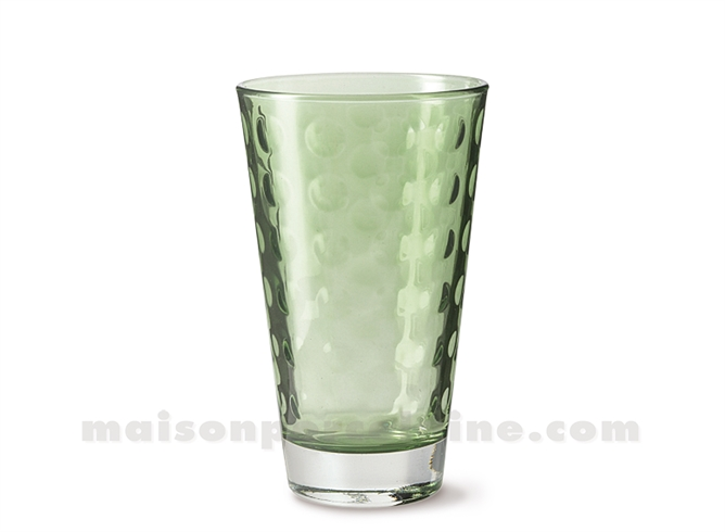 GOBELET HAUT / SODA / LONG DRINK OPTIC VERDE 30CL 13X8