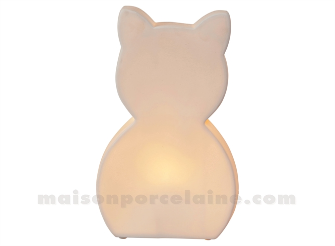 LAMPE BISCUIT - CHAT H30-18X10CM