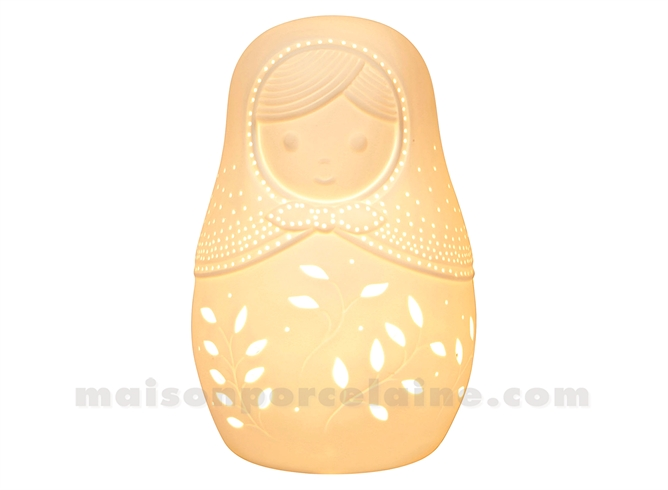 LAMPE BISCUIT - MATRIOCHKA H23X14,5CM