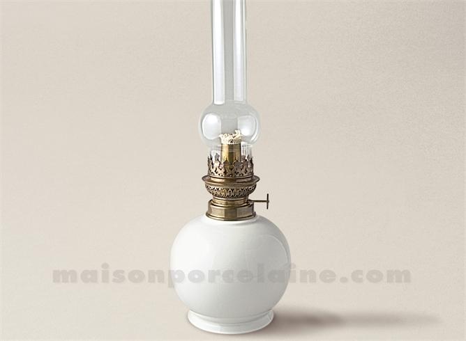 pied de lampe boule petrole limoges porcelaine blanche 45x15 maison de la porcelaine. Black Bedroom Furniture Sets. Home Design Ideas