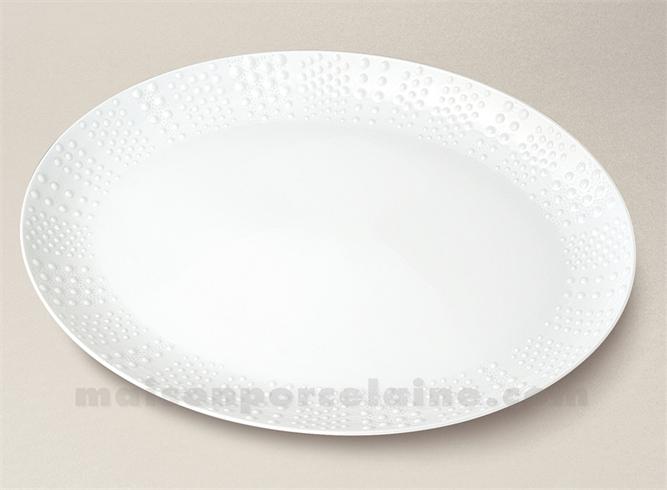 plat ovale pate extra blanche limoges sania 37 5x22 maison de la porcelaine. Black Bedroom Furniture Sets. Home Design Ideas