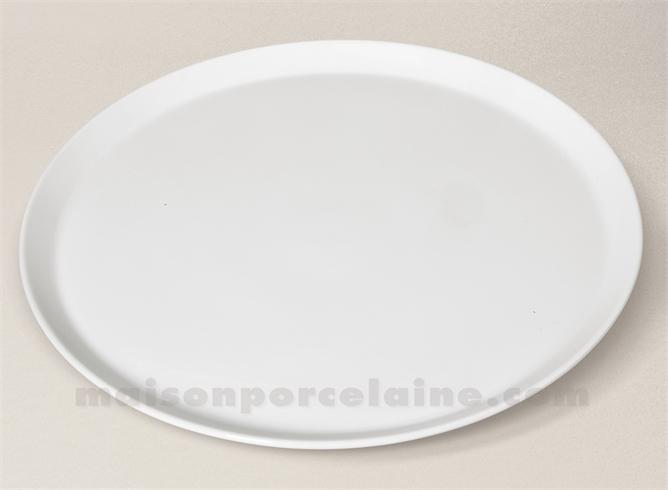 PLAT TARTE PORCELAINE BLANCHE SOLOGNE D31.5