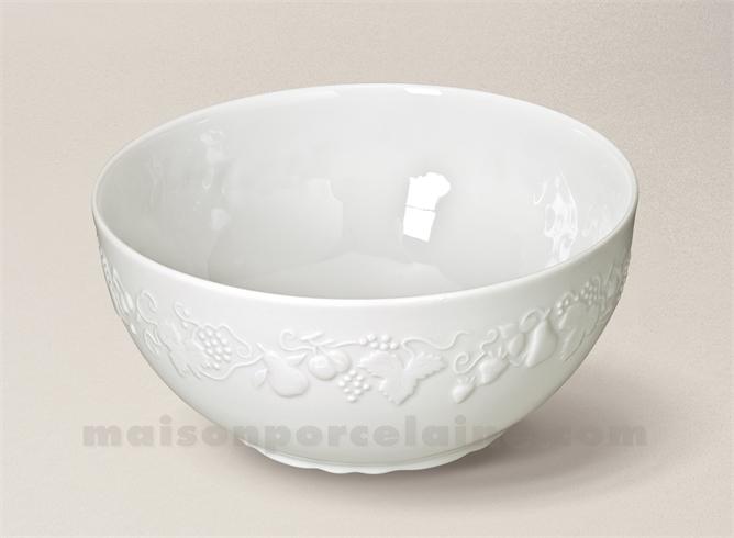 saladier california limoges porcelaine blanche pm d21 maison de la porcelaine. Black Bedroom Furniture Sets. Home Design Ideas