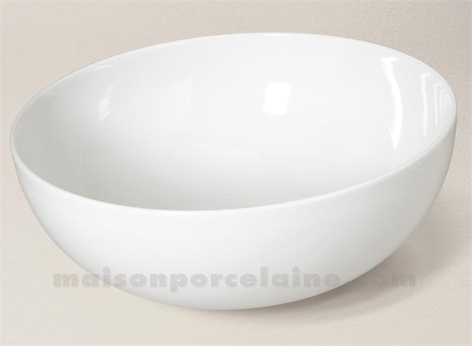 Saladier coupe porcelaine blanche d29 6x11 maison de la - Saladier porcelaine blanche ...
