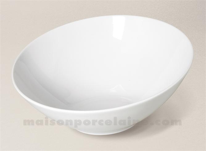 Saladier incline porcelaine blanche 23 5cm maison de la - Saladier porcelaine blanche ...