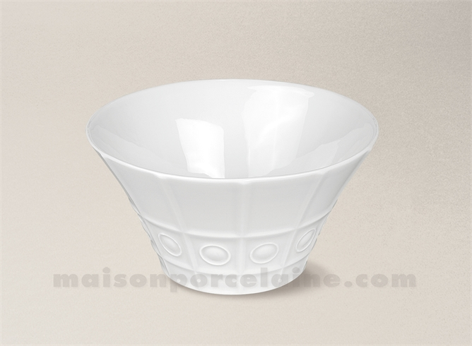 saladier limoges porcelaine blanche osmose cocktail maison de la porcelaine. Black Bedroom Furniture Sets. Home Design Ideas