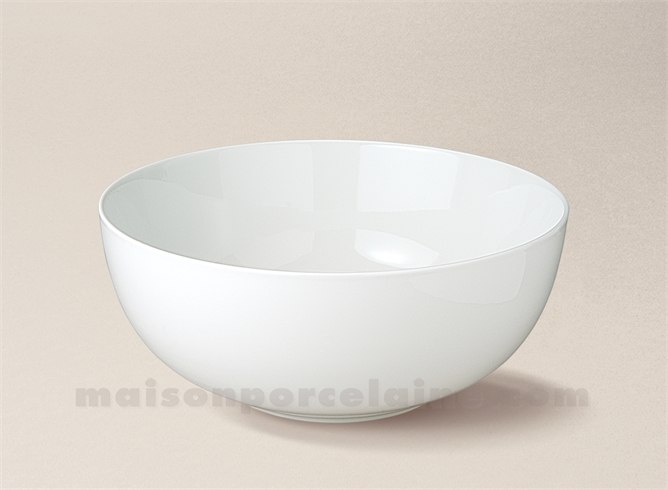 saladier porcelaine blanche boule artois n 6 17x6 5 maison de la porcelaine. Black Bedroom Furniture Sets. Home Design Ideas