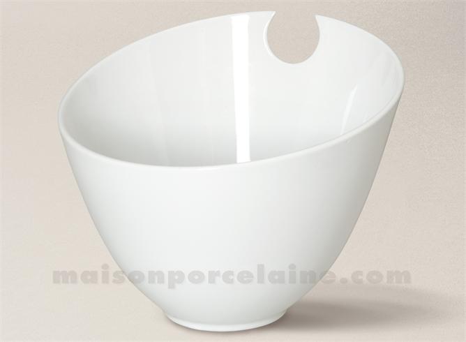 saladier porcelaine blanche conique encoche 19 5x24 maison de la porcelaine. Black Bedroom Furniture Sets. Home Design Ideas