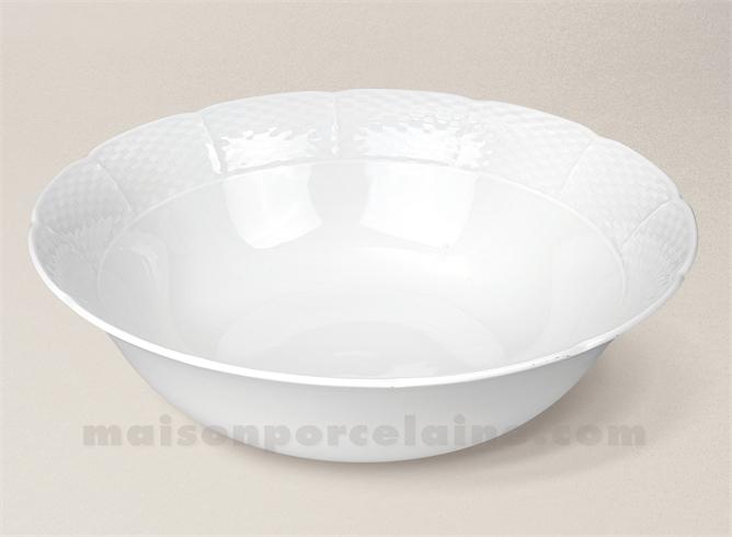 saladier porcelaine blanche natacha gm d26 maison de la porcelaine. Black Bedroom Furniture Sets. Home Design Ideas