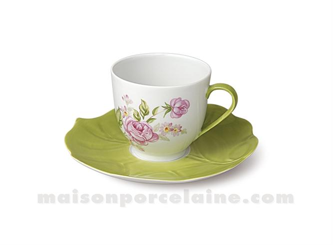 tasse cafe boule soucoupe limoges feuille bryone maison de la porcelaine. Black Bedroom Furniture Sets. Home Design Ideas