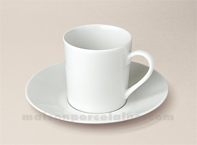 tasse cafe empire soucoupe porcelaine blanche sologne 10cl maison de la porcelaine. Black Bedroom Furniture Sets. Home Design Ideas