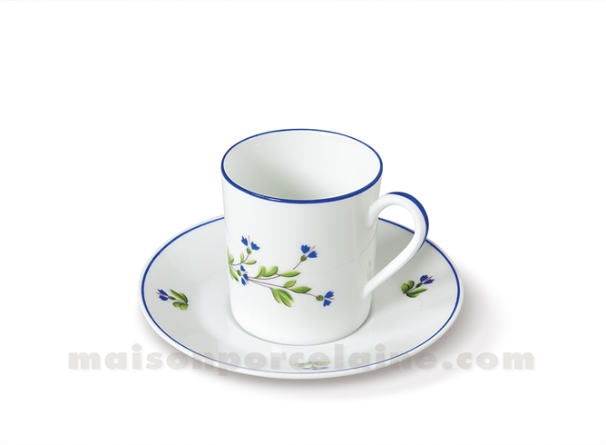 TASSE CAFE+SOUCOUPE LIMOGES EMPIRE 10CL