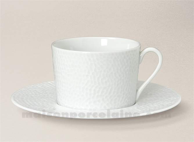 TASSE THE+SOUCOUPE PORCELAINE BLANCHE EMULSION 8.5X8 20CL