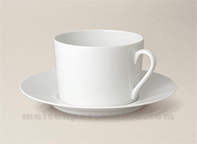 tasse the soucoupe porcelaine blanche limoges empire 20cl maison de la porcelaine. Black Bedroom Furniture Sets. Home Design Ideas