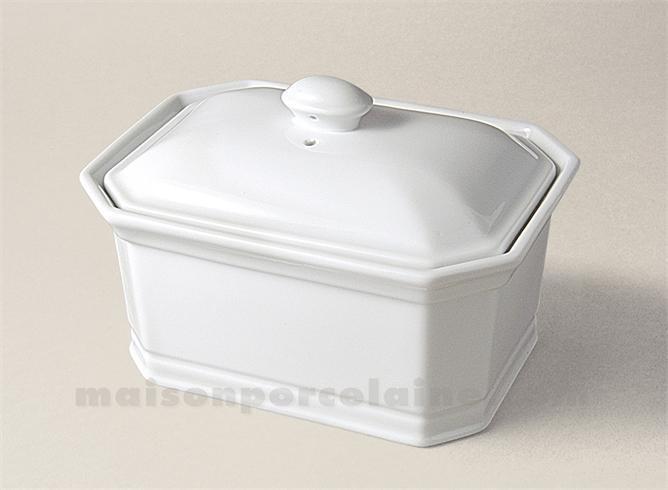 terrine octogonale foie gras culinaire n 2 18x13 900grs maison de la porcelaine. Black Bedroom Furniture Sets. Home Design Ideas