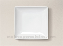 ASSIETTE CARREE CREUSE PORCELAINE BLANCHE COLORADO 20X20CM