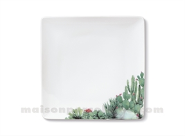 ASSIETTE CARREE DESSERT  COLORADO 20X20