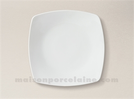 assiette carree creuse porcelaine blanche sahara 17x17 maison de la porcelaine. Black Bedroom Furniture Sets. Home Design Ideas
