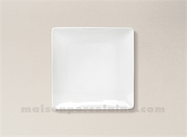 ASSIETTE CARREE PAIN PORCELAINE BLANCHE COLORADO 15X15CM