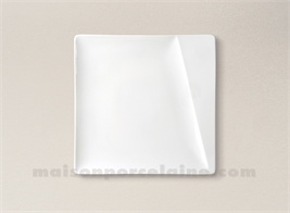 ASSIETTE CARREE PAIN PORCELAINE BLANCHE KHEOPS 15X15CM