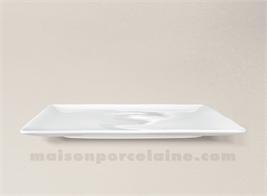assiette carree plate porcelaine blanche colorado 26x26cm maison de la porcelaine. Black Bedroom Furniture Sets. Home Design Ideas