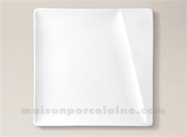 ASSIETTE CARREE PLATE PORCELAINE BLANCHE KHEOPS 26X26CM