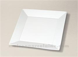 ASSIETTE CARREE PLATE PORCELAINE BLANCHE KYOTO 24X24