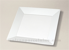 ASSIETTE CARREE PLATE PORCELAINE BLANCHE KYOTO 25.5X25.5
