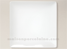 ASSIETTE CARREE PRESENTATION PORCELAINE BLANCHE COLORADO 30X30CM