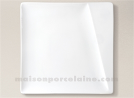 ASSIETTE CARREE PRESENTATION PORCELAINE BLANCHE KHEOPS 30X30CM