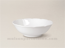 ASSIETTE CEREALES PORCELAINE BLANCHE NATACHA D16