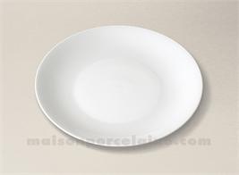 ASSIETTE COUPE PLATE LIMOGES PORCELAINE BLANCHE HAUSSMANN 21.5CM