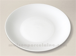 ASSIETTE COUPE PLATE LIMOGES PORCELAINE BLANCHE HAUSSMANN D26.5