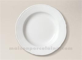 ASSIETTE CREUSE AILE PORCELAINE BLANCHE CLARA D23.5