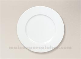 ASSIETTE DESSERT PORCELAINE BLANCHE SOLOGNE D21