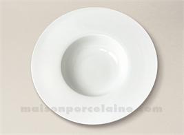 ASSIETTE GOURMET PORCELAINE BLANCHE AILE PLATE MILAN 24X5.2CM