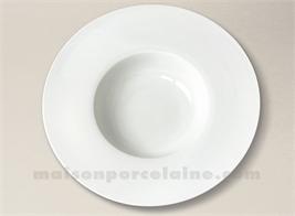 ASSIETTE GOURMET PORCELAINE BLANCHE AILE PLATE MILAN 28.5X6CM