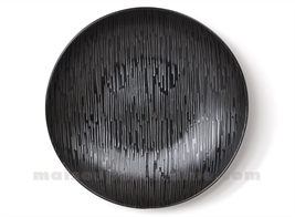 ASSIETTE GRES GOURMET MEDARD DE NOBLAT MAGMA BLACK 25CM