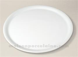 ASSIETTE PIZZA PORCELAINE BLANCHE D31.5