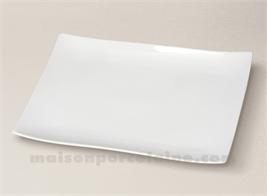 ASSIETTE / PLAT RECTANGULAIRE PORCELAINE BLANCHE SEOUL 32,5X22,5CM55
