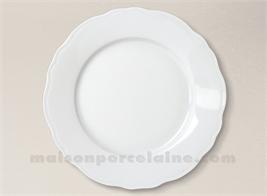 ASSIETTE PLATE LIMOGES PORCELAINE BLANCHE COLBERT D265