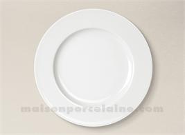 ASSIETTE PLATE LIMOGES PORCELAINE BLANCHE EMPIRE D26.5